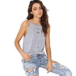 Nowy kobiety bluzki casual i sexy backless kobiety odzież stałe kobiety lato tank tops