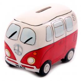 1 kawałek Camper Van Kształcie Money Box Oszczędny Samochód Kształt Saving Money Box Monety Skarbonka Ceramiczne Autobus Skarbon