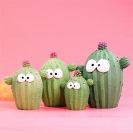 Cartoon Pola Pieniędzy wyraz twarzy Unikalne Zabawa kaktus kaktus roślin Żywicy skarbonka Śliczne ozdoby rzemieślnicze Oszczędny