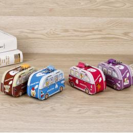 Prezent urodzinowy Metalu Żelaza Wystrój Domu modelu autobusu Dzieci Skarbonka Monety Pieniądze Box Oszczędzania Pieniędzy Figur