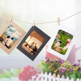 10 sztuk DIY Papier Pakowy Ramka 3-5 cal Wiszące Zdjęcia Ścienne Ramki Na Zdjęcia Papier Pakowy Z Klipami i Liny Dla Rodziny Pam