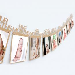 1st Urodziny Ramka 1-12 Miesięcy dziecka Ramka Prysznic dziecko Zdjęcie holder Prezent urodzinowy Dla Dzieci Pokój dekoracje