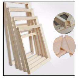 Rama z drewna na płótnie obraz olejny Fabryka Cena Drewna ramki na płótnie obraz olejny natura drewno DIY rama obrazu wewnętrzna