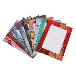 9 sztuk Papieru Ramka na zdjęcia 7 cal DIY Połączenie Ścienne Ramki na zdjęcia Klipy DIY Wiszące Ścienne Obraz Albumu Kraft Domu