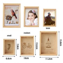 Rodzina Rocznika Wielu Ramka na zdjęcia Online Home Decor Art Drewniane Ślub Mini Zdjęcia Ramki Vintage DIY Rodzina Ramki Wystró