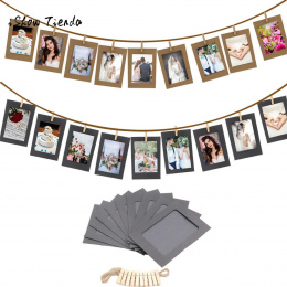 10 Sztuk 3 Calowy Photo Paper Flim Ramki Album PODŁUBAĆ Zdjęcia Na Ścianie Wisi + Liny + Klipy Zestaw Upominkowy Dekoracji wydar