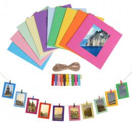 3 5 cal DIY Kraft Papieru Ramka na Zdjęcia Ścienne W Stylu Vintage Ramka DIY Dziecko Zdjęcie Holder Dekoracje Ślubne