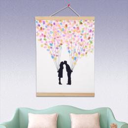 Magnetyczne Drewniane Wieszak Drewna Ramka Plakat DIY Obraz Na Płótnie drukuj Craft Ramka Hanging Wall Art Home Decor A3 A4 rozm