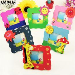 Ramka na zdjęcia NAIYUE 1 sztuk Nowe Produkty Kolorowe Drewniane Cartoon Ramka Drewniana Ramka na Prezent Dla Dzieci Zabawki Hom