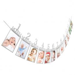Zdjęcie folderu Banner Dzieci Urodziny Prezent Dekoracje 1-12 Miesięcy Zdjęcie Banner Miesięczne Zdjęcia Ściana zdjęć folderu Dr