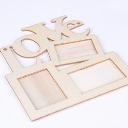Nowy Hollow Miłość Drewniane Ramki na zdjęcia Biały Baza DIY Ramka Na Zdjęcia Art Decor Miłość Ramki Na Zdjęcia