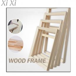 Rama z drewna na płótnie obraz olejny charakter drewna DIY niestandardowe rama obrazu rama wewnętrzna bez malowania po prostu ra