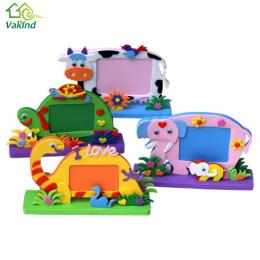 Pianka EVA Kreskówki Ramka na zdjęcia dla Dzieci Dziecko DIY 3D Naklejki Ramki Ramka na zdjęcia Ręcznie Blok Zabawki Wklej Craft