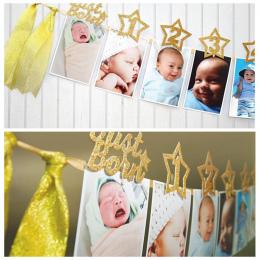 1st Urodziny Ramka 1-12 Miesięcy dziecka Ramka Prysznic Dziecko Zdjęcie Holder Dzieci Urodziny Banner Wedding dekoracje pokoju