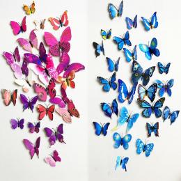 Darmowa wysyłka 12 sztuk PCV 3d Motyl ścienne decor śliczne Motyle naklejki ścienne Naklejki sztuki dekoracji pokoju wall art