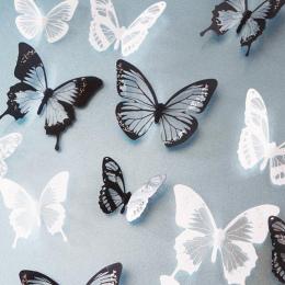 18 sztuk/partia 3d kryształ Butterfly Naklejki Ścienne Art Naklejka Home decor dla Mural Naklejki Kalkomanie DIY PCV Boże Narodz