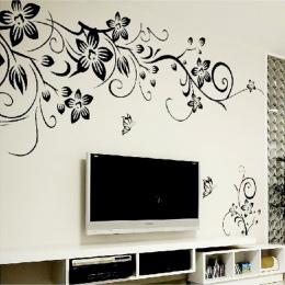 Hot DIY Wall Art Naklejka Dekoracje Moda Romantyczny Kwiat Naklejki Ścienne/Naklejki Ścienne Wystrój Domu 3D Tapety Darmowa Wysy