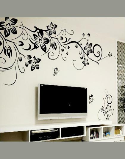 Hot Diy Wall Art Naklejka Dekoracje Moda Romantyczny Kwiat Naklejki