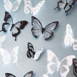 18 sztuk/partia 3d Efekt Kryształ Motyle Naklejki Ścienne Piękny Motyl dla Dzieci Pokój Naklejki Ścienne Home Dekoracji na Ścian
