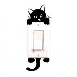Hot Sprzedaż Śliczne Nowy Kot Naklejki Ścienne Włącznik Światła Decor Kalkomanie Art Mural Pokoju Dziecka Przedszkole Naklejka P
