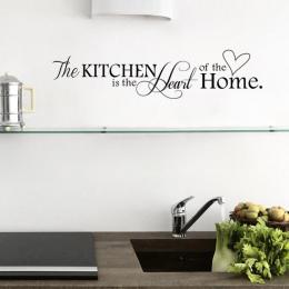 Nowa Kuchnia jest sercem Domu List Wzór Naklejki Ścienne PCV Wymienny Home Decor DIY wall art MURAL