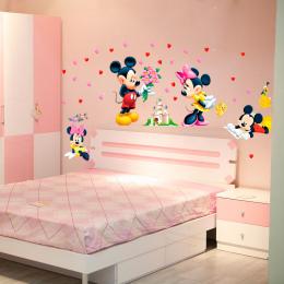 Mickey Minnie Mouse Cartoon dziecko naklejki ścienne naklejki domu dla dzieci pokój sypialnia wall art przedszkole park rozrywki