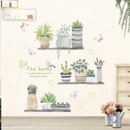 Ogród roślin bonsai kwiat motyl naklejki ścienne home decor salon kuchnia naklejki ścienne pcv diy mural art decoration