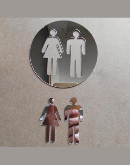 Poważne 3D Lustro Naklejka Funny WC Wc Drzwi Wejście Znak Mężczyźni AO05