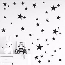 Nowy 39 sztuk 3-5 cm Cartoon Starry Naklejki Ścienne Dla Dzieci Pokoje Home Decor Little Stars Naklejki Ścienne dziecko Przedszk