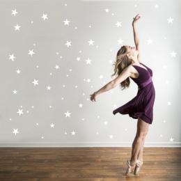 Sztuka użytkowa Fototapety DIY Stars Trójkąty Okrągłe Koła Naklejki Ścienne Winylowe Kalkomanie dla Sypialnia Salon