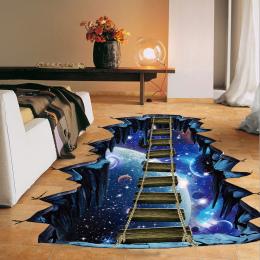 NOWY Duży 3d Kosmosu Naklejki Ścienne Galaxy Gwiazda Most Dekoracji Domu dla Dzieci Pokój Podłogowe Salon Naklejki Ścienne wystr