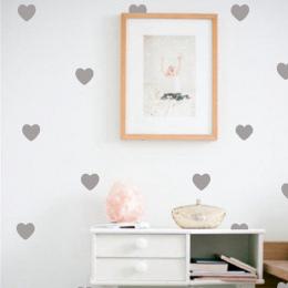 Trochę Serca Wall Stickers Naklejki Ścienne, Sztuka Dekoracji wymienny Naklejki Ścienne Dla Dzieci Dziewczyna Pokój Nowoczesny W