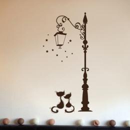 Cute Cat Moda Naklejki Ścienne Zabawny Kot Naklejki Living Room Decor Tv Ściany Decor Dziecko Dzieci Sypialnia Winylu wystrój Do