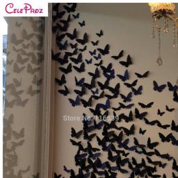 20 sztuk 3D Papieru Motyl naklejki ścienne decor Motyle Naklejka art naklejki na ściany domu DIY Papieru Dekoracji