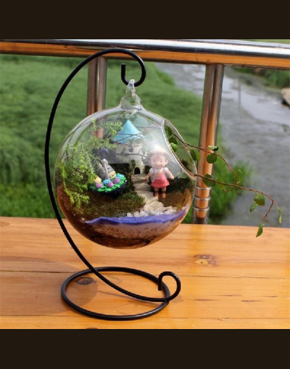Szkło Ball Wazon Szklane Akwarium Fish Tank Wiszące Doniczka Roślin Hydroponika Wazon Dekoracji Domu
