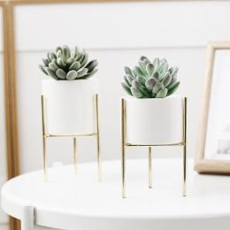 1 Zestaw Nordic Styl Ceramiki Sztuki Żelaza Minimalizm Wazon Wazony Kwiatów Roślin Doniczka Dekoracji Domu Dla OfficeRoom Kawiar