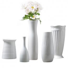 Klasyczny Biały Ceramiczny Wazon Chińskie Sztuki I Rzemiosła Wystrój Zakontraktowane Porcelanowy Wazon Kreatywny Prezent Dekorac
