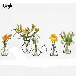 Urijk Żelaza Wazon Wazony na Kwiat Roślin Kreatywny Nowy Rok decorativos wazon Wystrój dekoracji Akcesoria Do domu jarrones mode