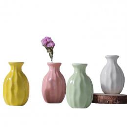 Wieża ceramiczny Wazon Wazon Do Dekoracji Wnętrz Photo Prop Mody Butelki Ceramiczne Roślin Zielonych Ceramiczne Wazony