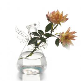 Gorący Śliczne Szkło Anioł Kształt Kwiat Roślin Stojak Wiszące Wazon Hydroponicznych Kontenerów Biurowych Wedding Decor New Arri