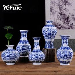 YEFINE Vintage Home Decor Ceramiczne Wazony Dla Domów Antyczny Chiński Tradycyjny Niebieski I Biały Porcelanowy Wazon Dla Kwiató