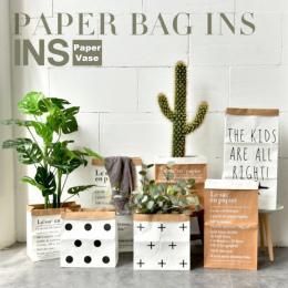 Europa Style Wielu malarstwo Papier Pakowy Piętro Roślin Bonsai Kwiat Ślub Dekoracyjne Wazon Dekoracji Akcesoria Do Przechowywan