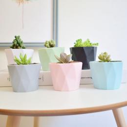 Macaron mini doniczki dla domu i ogrodu sukulenty Mięsiste roślin pulpit dekoracji rzemiosło zielony doniczka wazon