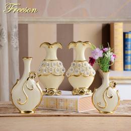Europa Ręcznie Malowane Pozłacane Porcelanowy Wazon Nowoczesne Zaawansowane Ceramiczne Wazon Room Study Korytarz Domu Dekoracje