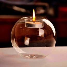 świeczniki świątecznem Nowoczesne Na Stół Szklane