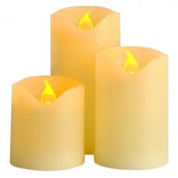 3 sztuk/partia Małe Bateryjny Świeca z Długotrwałe Jasne Światło Bezpłomieniową Świeczka LED Zestaw z Wysokość Jakości