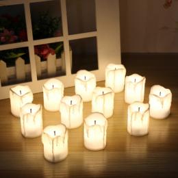 12 SZTUK z LED Ciepły Biały Bezpłomieniową Świece Tealight Elektryczny Zasilany z Baterii na Wakacje/Dekoracje Ślubne
