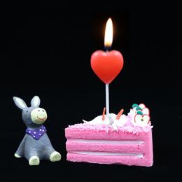 1 sztuk red love heart ciasto świeca bezpieczne płomienie kids birthday party wedding cake candle home decoration favor ogrodnic