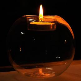 Adeeing 8 cm Okrągłe Szkła Świecznik Rocznika Kryształ Candlestand Wedding Party Decor