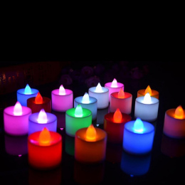 5 sztuk Kreatywny Świeczka LED Lampa Symulacji Multicolor Kolor Płomienia Miga Herbata Światło Ślub Urodziny Strona Dekoracji Do